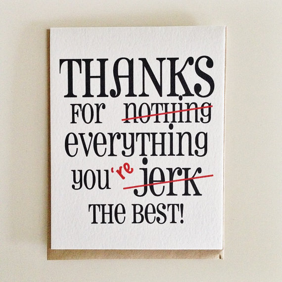 Thanks for nothing - etsy