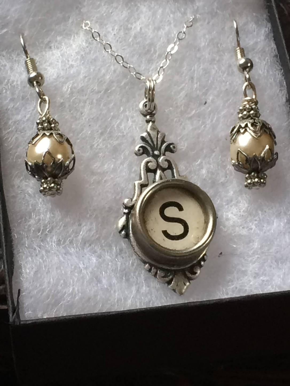 Vintage Key monogram necklace