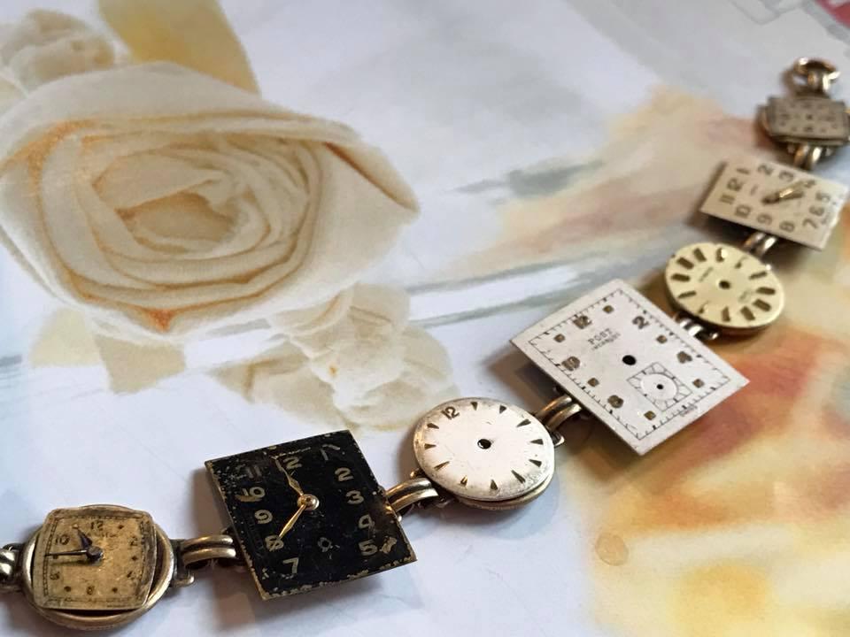 vintage key watch face bracelet