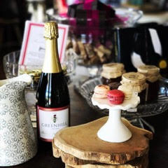 pure love macaron with wine