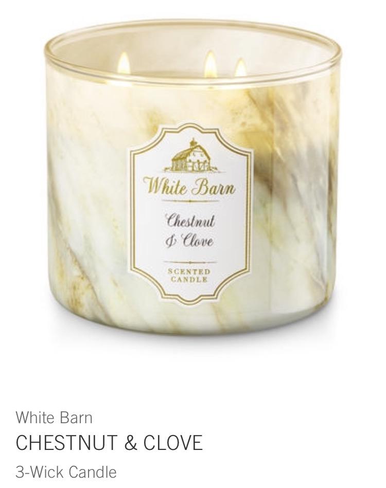 chestnut & clove candle