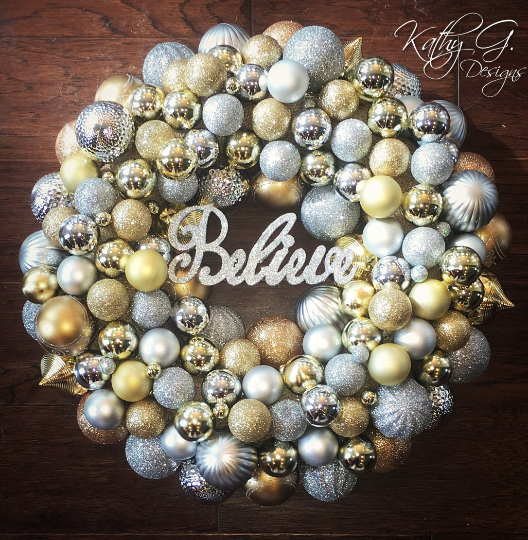Kathy G Believe wreath
