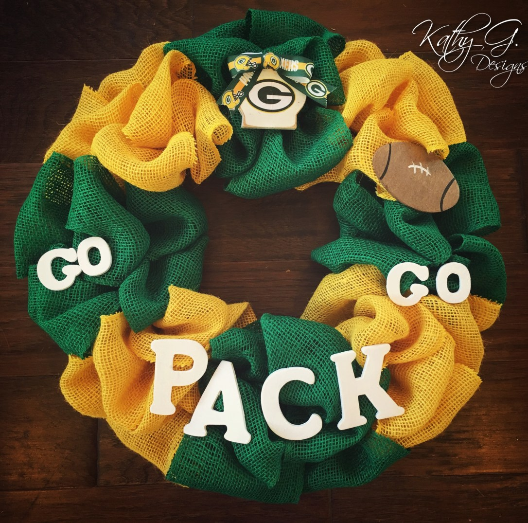 Kathy G Packers Wreath