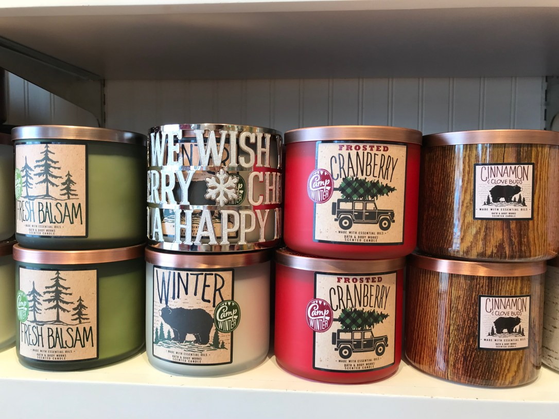bath and body holiday 2017 candles