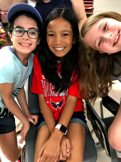 Caroline and friends last day of 4th grade