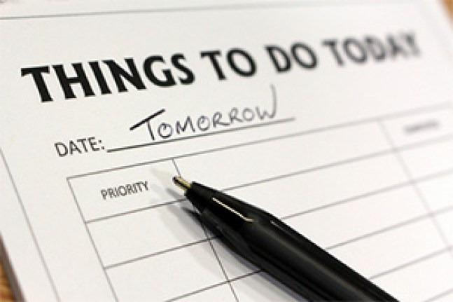 Things to do today dated tomorrow