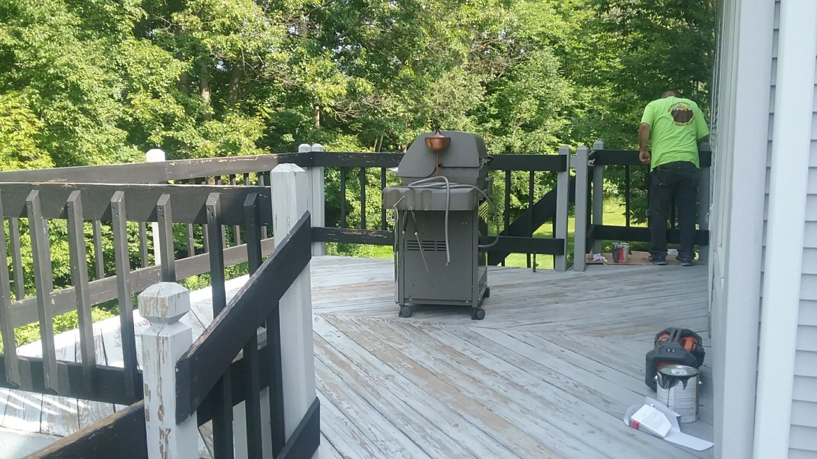 Guilderland deck painting