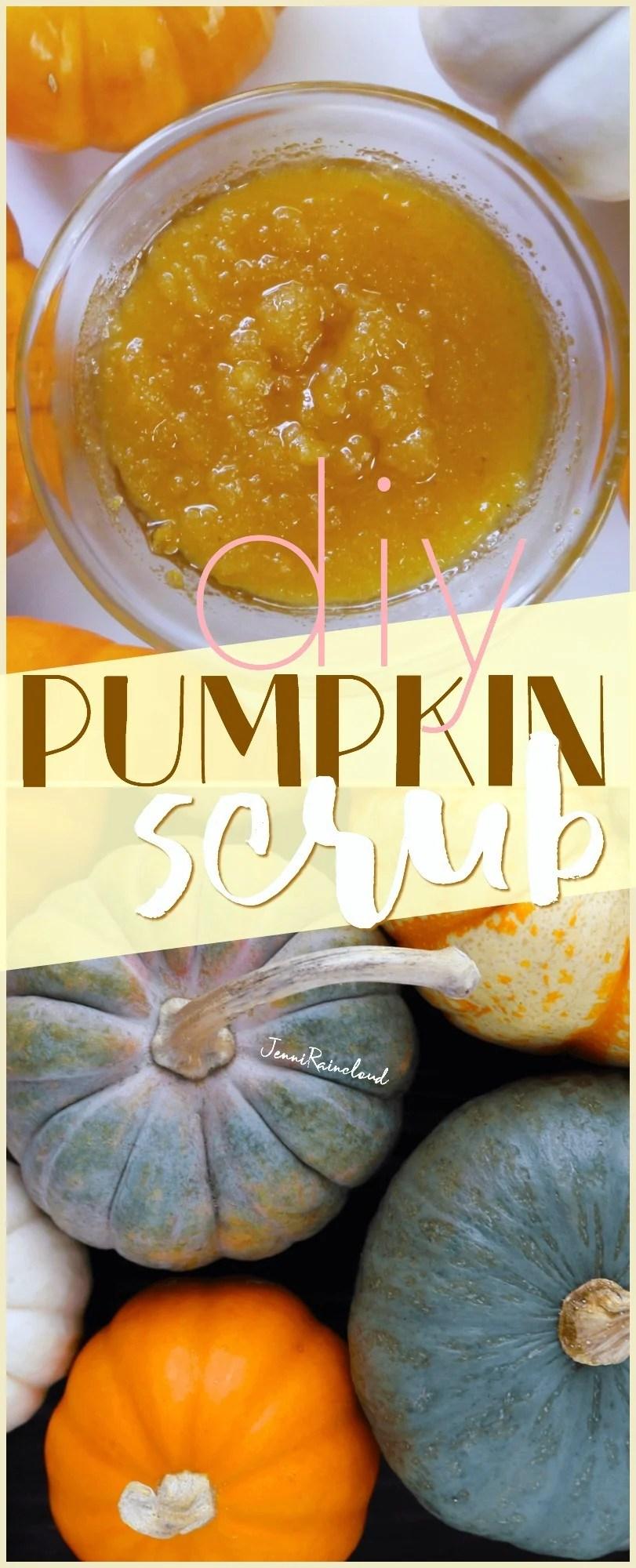 DIY Pumpkin Scrub