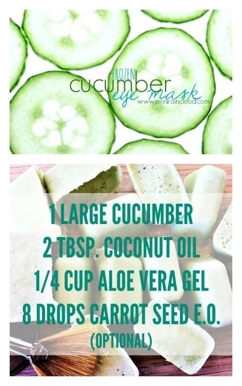 DIY Frozen Cucumber Eye Mask