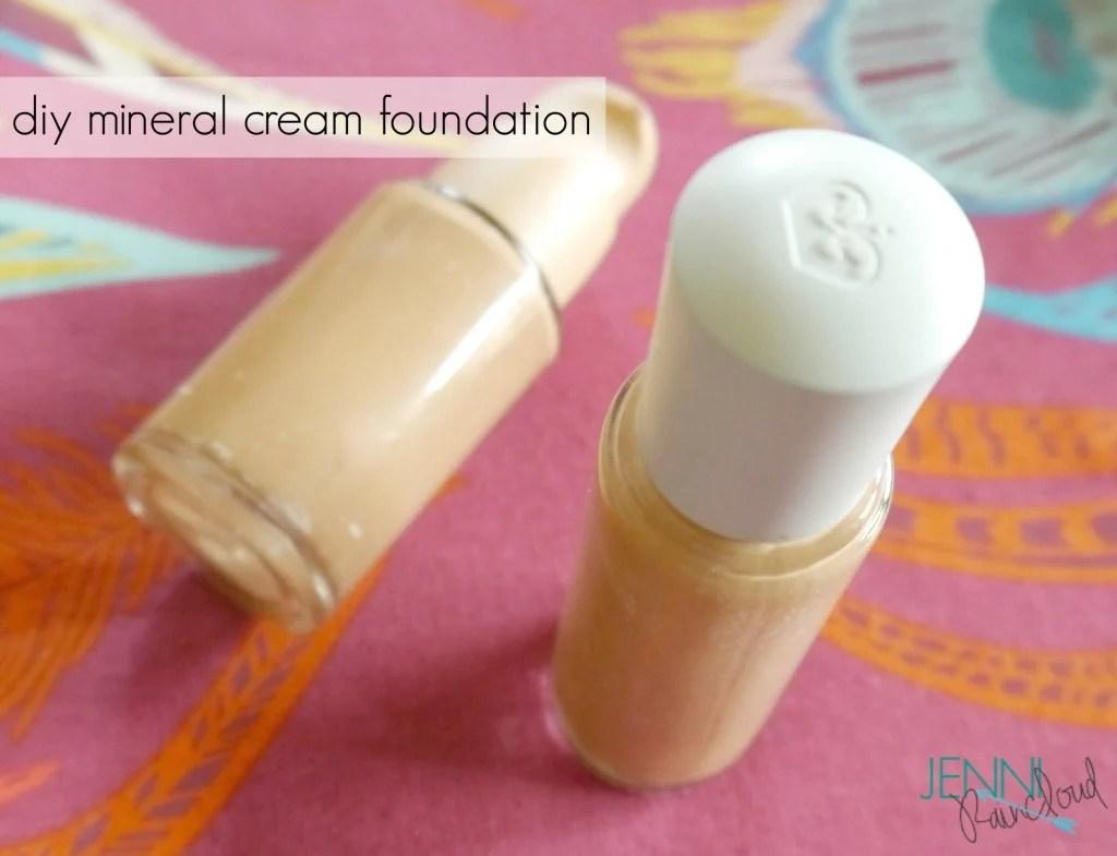 DIY mineral cream make up