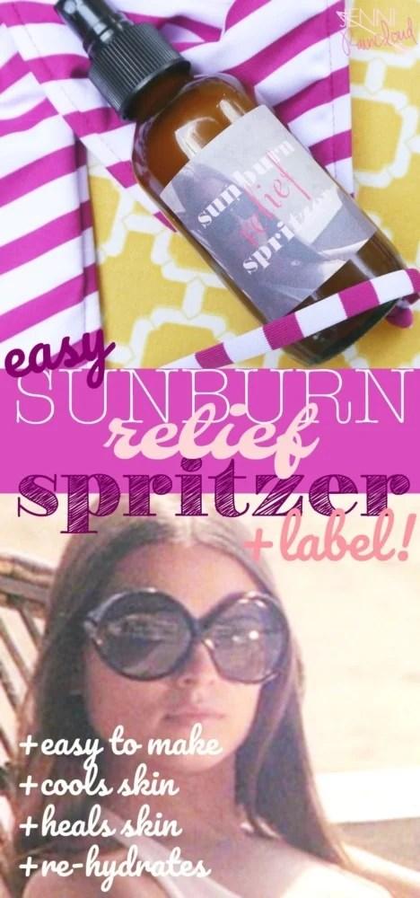 Sunburn Relief Spritzer DIY