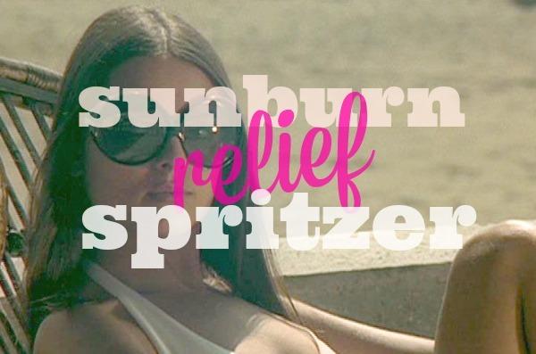 Sunburn relief spritzer