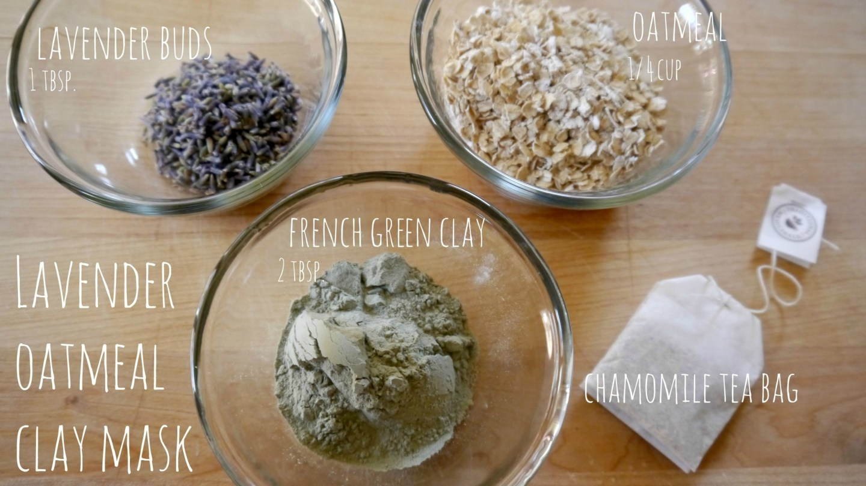 Diy Dry Oatmeal Lavender And Clay Mask Jenni Raincloud