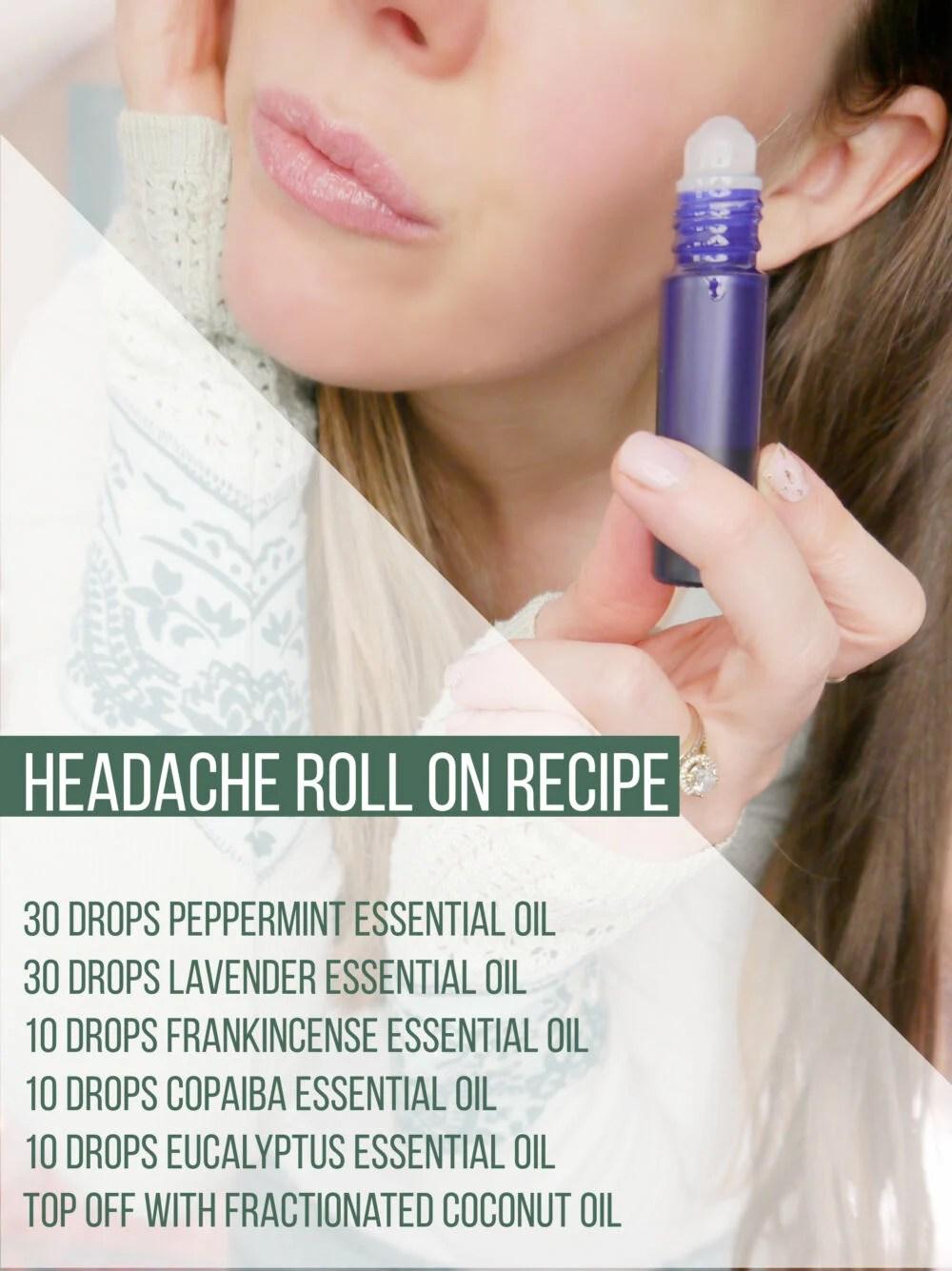 Essential Oil Headache Roll On Recipe