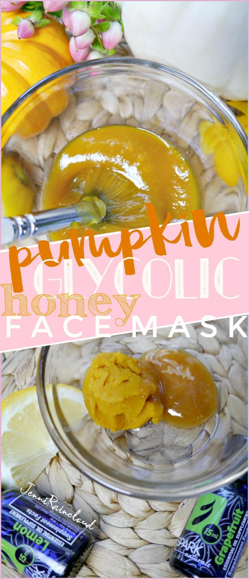 DIY Pumpkin Glycolic Honey Mask