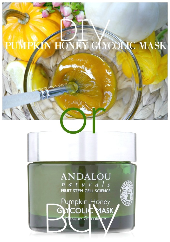 DIY Pumpkin, Manuka Honey and glycolic Mask