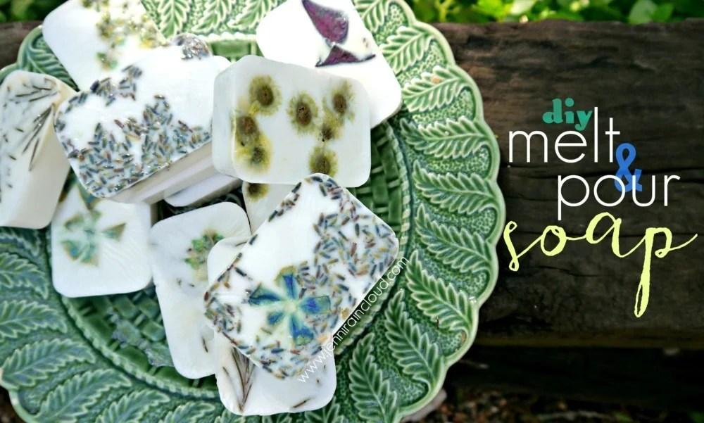 DIY FLower Petal Bar Soap
