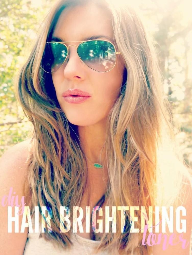 hair brightening toner DIY