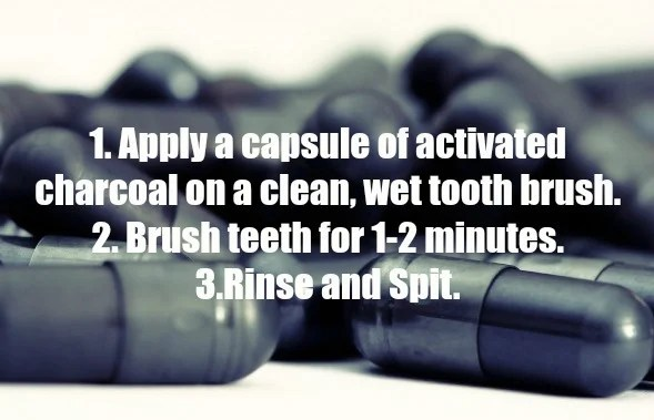 Activated Charcoal for whitening teeth