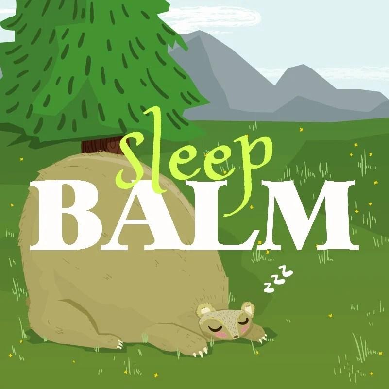 Sleep Balm DIY label