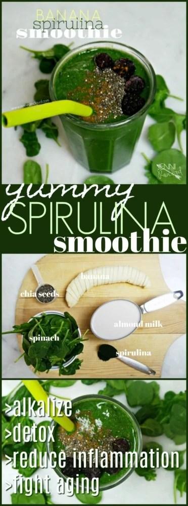 Spirulina banana smoothie