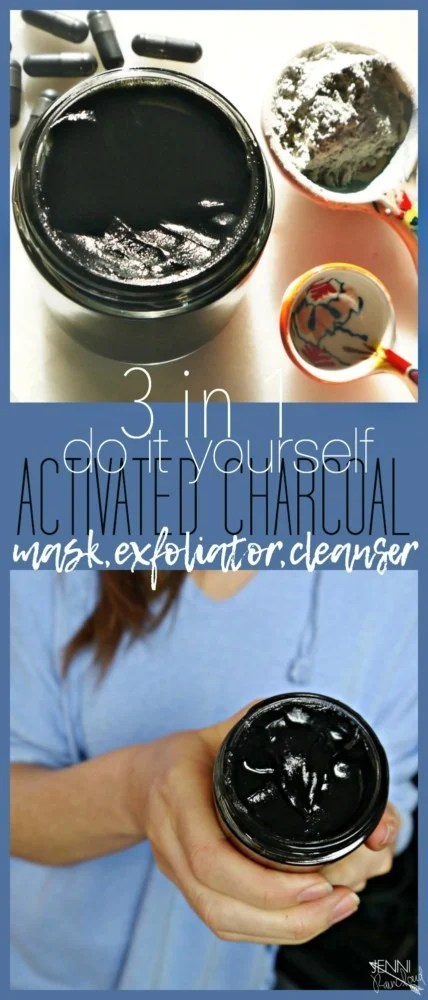 Activated Charcoal Mask Exfoliant and Cleanser