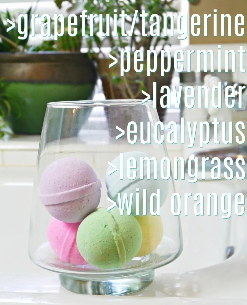 Bath Bombs Essential Oils