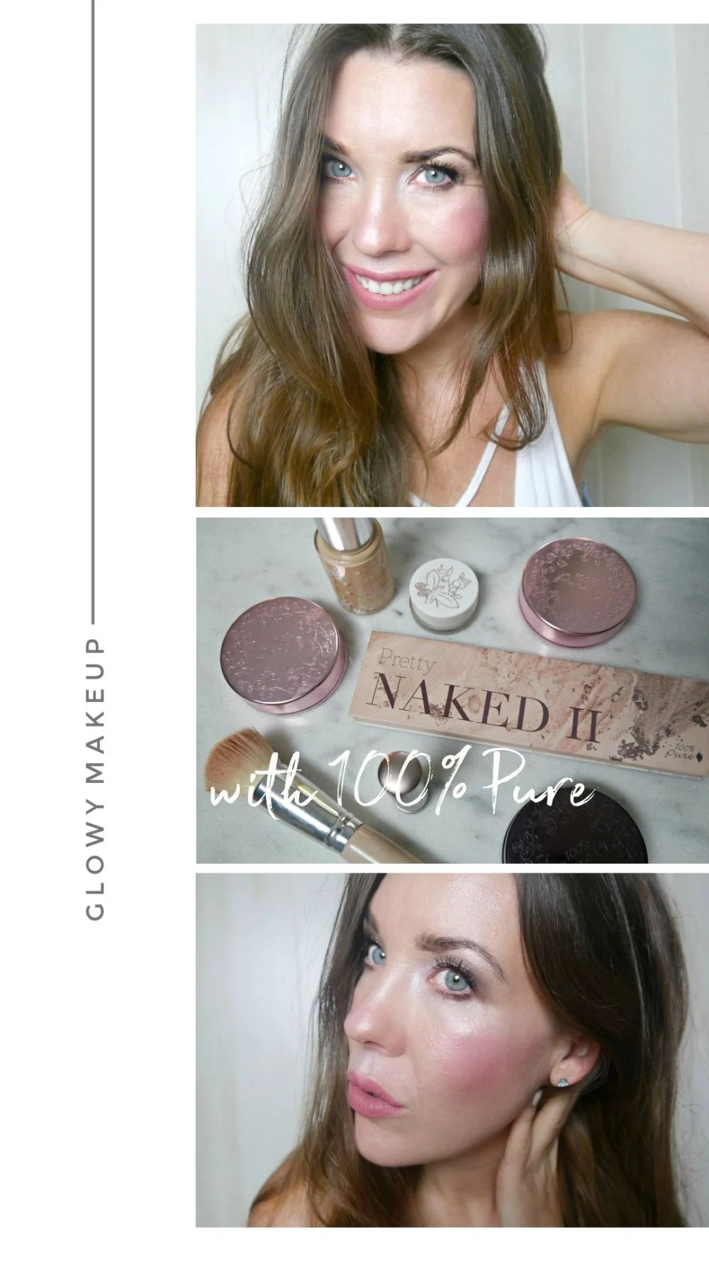 Glowy Makeup with 100% Pure