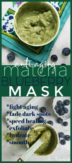 Matcha Blueberry DIY Mask