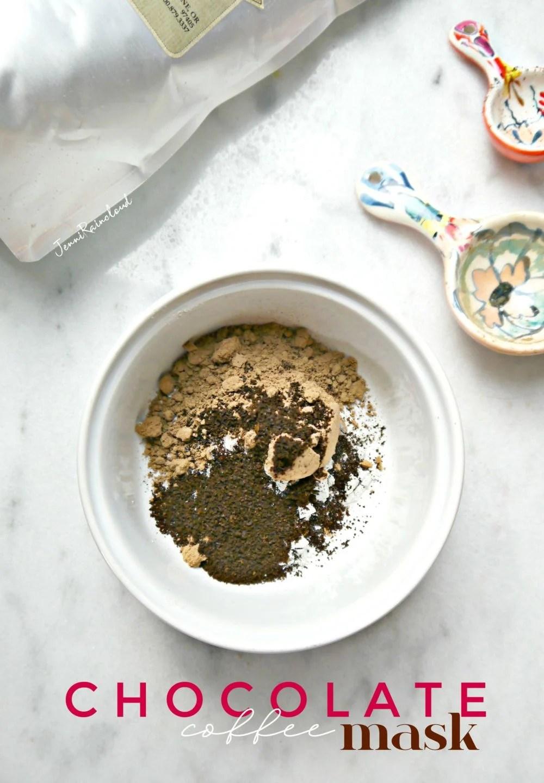 DIY Chocolate Coffee Mask