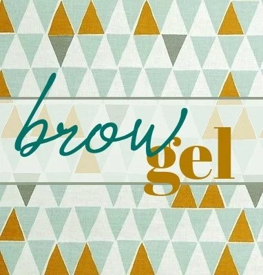 brow gel label