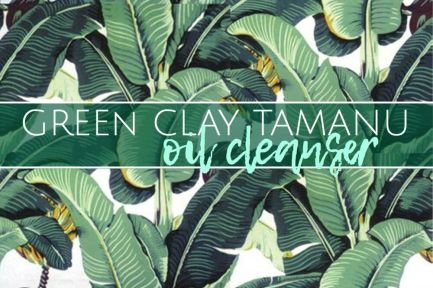 Green Clay Oil Cleanser Label