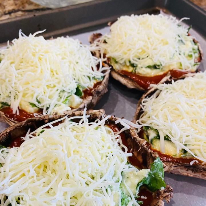 Lasagna Stuffed Portabella Mushrooms