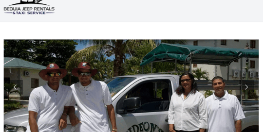 bequia jeep rentals home page for Jennos Group portfolio