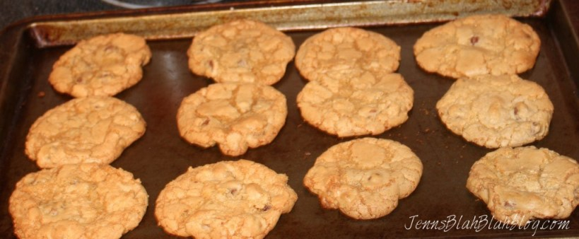 Chewy Peanut Butter Cookies on a baking pan