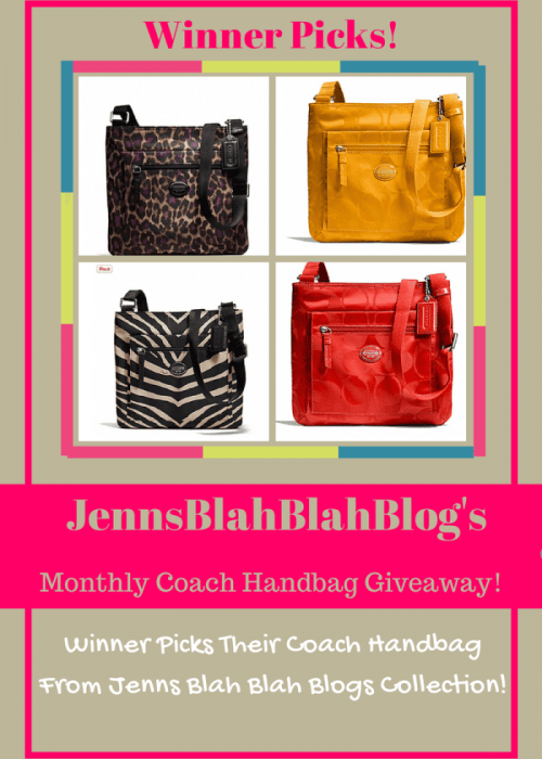 Jenns Blah Blah Blog Coach Handbag Giveaway