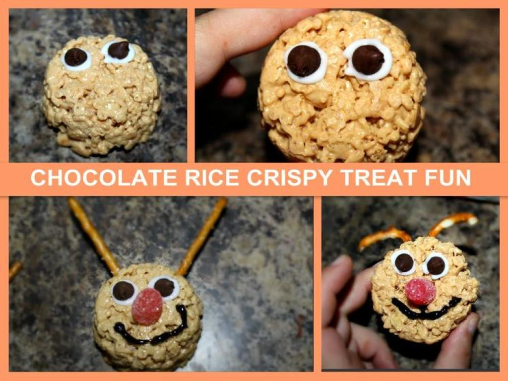 sets it takes to make rice crispy treats guys add the eye, the mouth, and the atena'sse