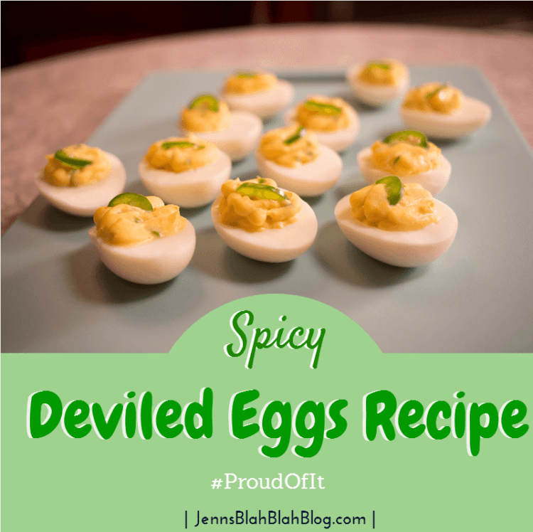 Spicy Deviled Eggs ProudOfIt