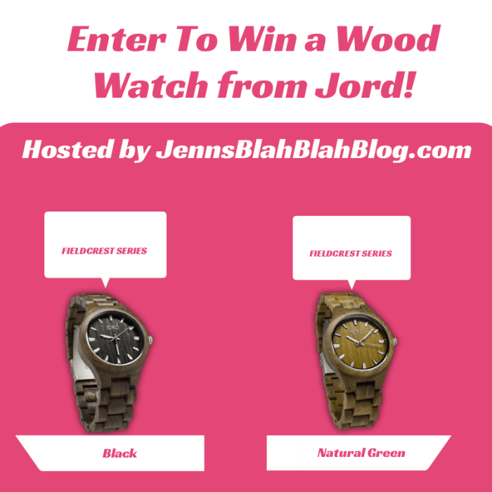 enter to win a wood watch