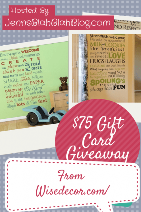 wall decor giveaway button with quotes on it