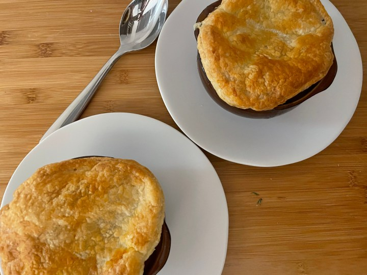 Puff Pastry topped Beef Stew
