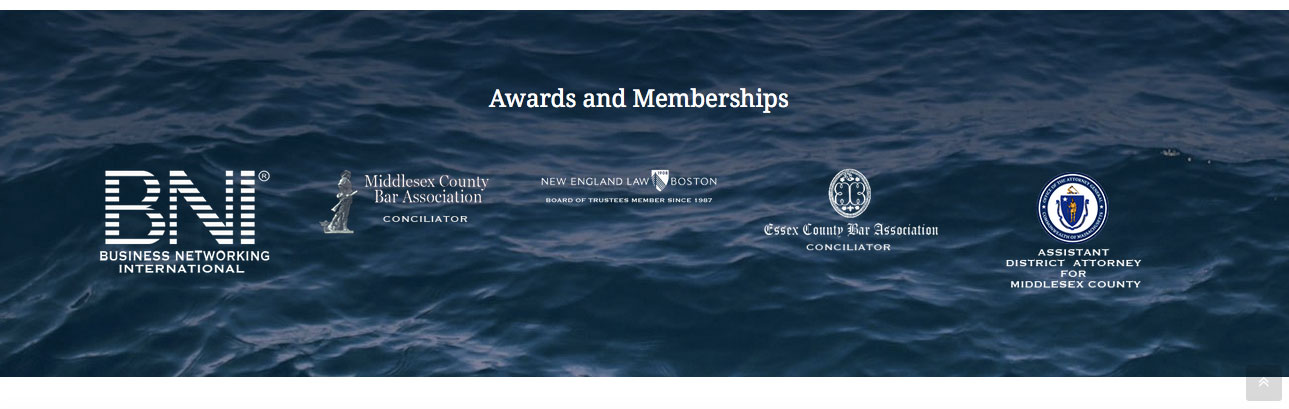 Awards and Memberships carousel on home page