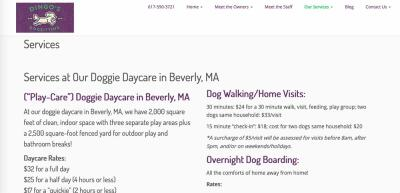 dingos services page