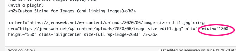 image size in the html