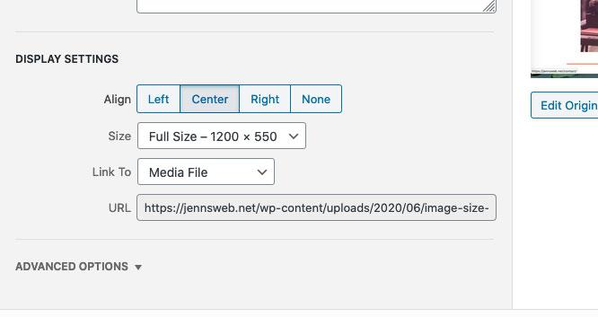 default image settings