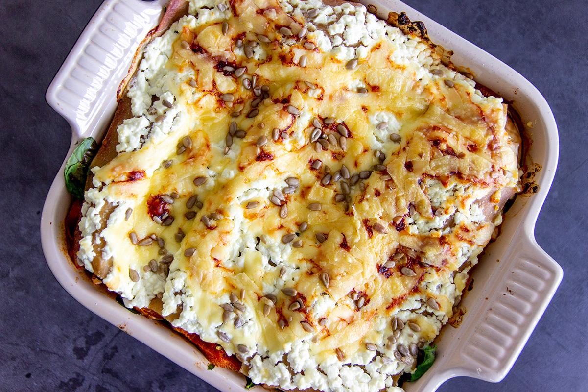 lasagne met pompoen