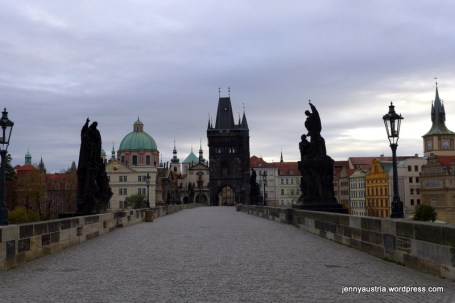 Charles Bridge without a soul in sight.