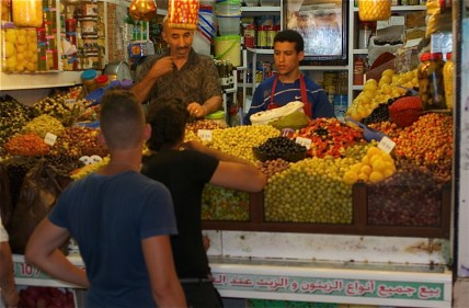 Olives in the souk