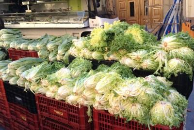 Escarola at La Garriga market