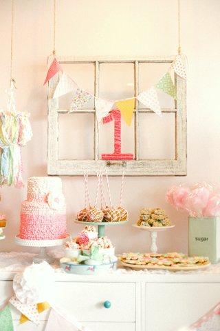 window pane over dessert table, window pane birthday party